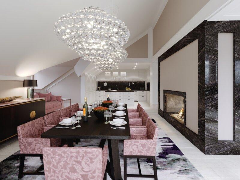 Rose Crystal Dining Room