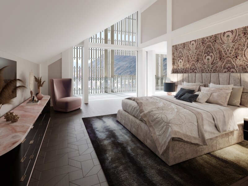 Chedi Gems Penthouses Bedroom