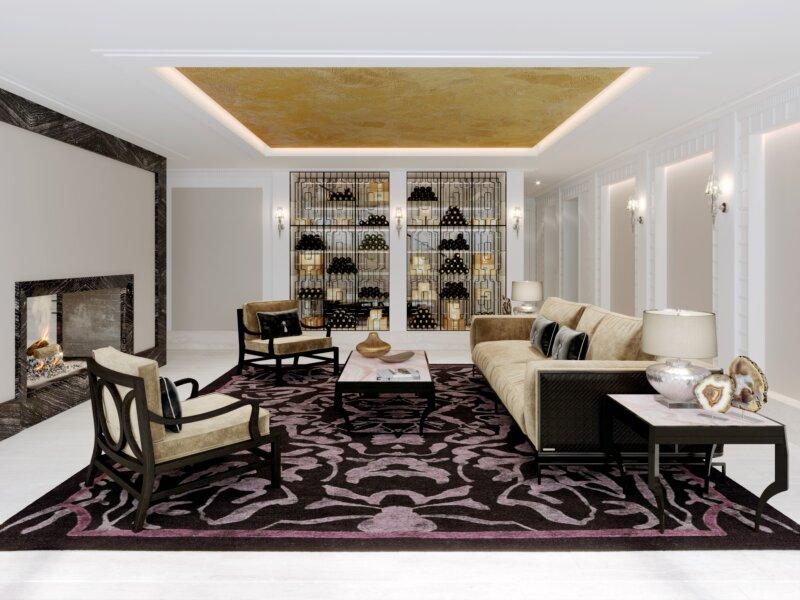 Rose Crystal Living Room